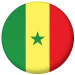 Senegal Country Flag 25mm Flat Back